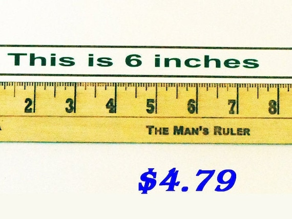 Gag Ruler Turn 6 Inches Into 9 Inches The Man S Etsy