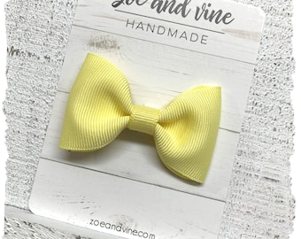 Choice of Men/'s Big /& Tall or Boys Bow Tie Maize Yellow Pre-Tied Cotton Bow Tie Light Yellow Bow Tie