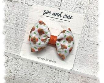 Turkey Print Clip-on Bow TieHair Bow