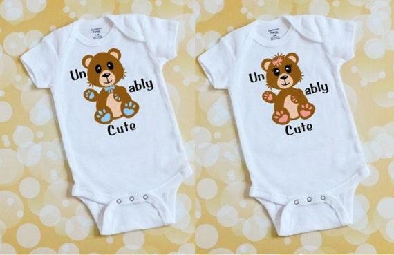 Bearu cute baby boy onesie