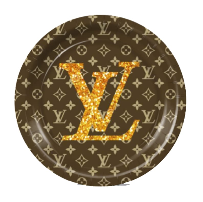 f8ea3ff2b807 Louis Vuitton Inspired Custom Plates Cups or Napkins