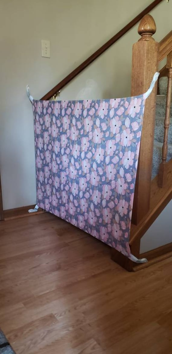 Baby Gate Fabric Baby Gate Pet Gate Stairs Etsy