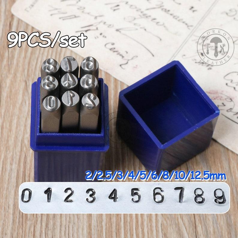 10mm Stamps 0-9 Numbers Set Punch Steel Metal 9 Die Tool Case Craft