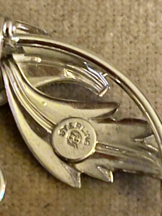 Vintage Sterling and Genuine Pearl Coro Craft Bro… - image 3