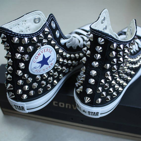 Véritable CONVERSE noir avec clous All Star Chuck Taylor baskets Sheos