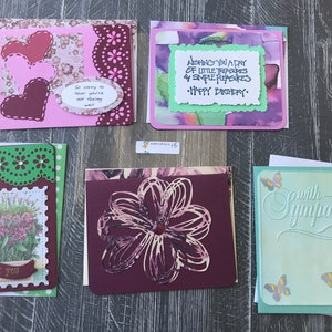 Handmade w matching envelopes Each unique with added bling 5 cards for 8 dollars Sympathy Cards Item 21 embossing and embellishments.