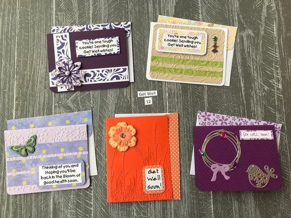 Sympathy Cards Item 8 Each unique with added bling Handmade w matching envelopes 5 cards for 8 dollars embossing and embellishments.