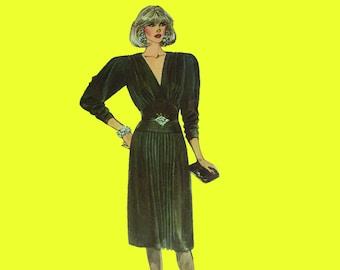 fe9df17c479 Vintage Sewing Pattern - McCalls 2215 - 80s Retro Dress/Dynasty 1980s  Fashion - UNCUT - size: 12
