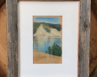 Pt Reyes Bluff - Framed Original Plein Air Pastel
