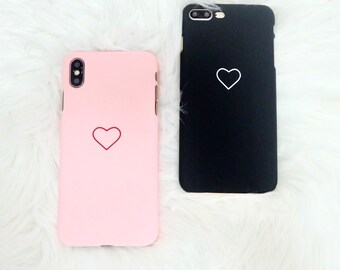 iphone 6s case etsycute simple heart design shell snap on hard iphone case for 6 6s se 5 5s 6 7 7plus 8 8plus x xs xr xsmax valentines gift for her, gift sale
