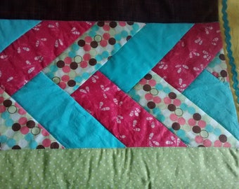 Friendship Braid Quilt - Baby Quilt - Crib Size - Handmade - Gender Neutral - Baby Shower Gift