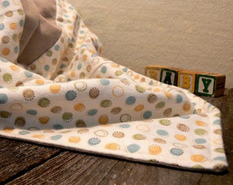 Polka-Dot Patchwork Baby Blanket