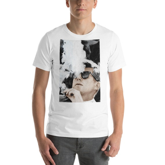 2f1494cba03 JFK Cigar and Sunglasses Cool President Short-Sleeve Unisex