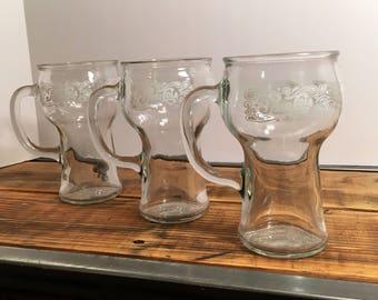 3 Pespi Cola Rootbeer Float Mugs