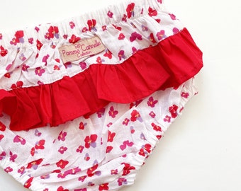Ruffled Babies Bloomers Babies Toddlers Girls Frilly Leg Bloomers Sage Floral Babies Nappy Cover Baby Girls Birthday Outfit