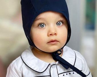 Adelleo Bébé Fille Bonnet D/'été Casquette Fete Baptême avec coton blanc or