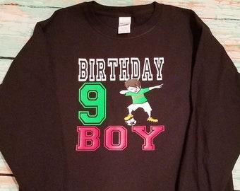 a1318313ad0 Dabbing Soccer player kid birthday shirt