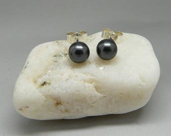 Earrings in 925 sterling silver swarovski Pearl