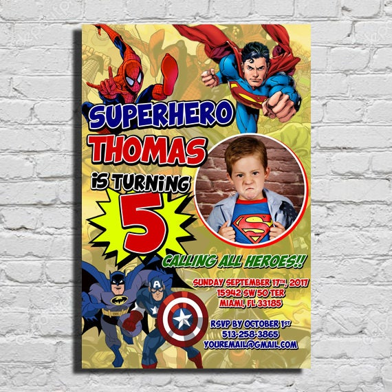 Superhero Comic Invited Birthday Invitation
