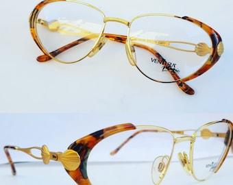 2bbed29296 Ventura vintage eye glasses frame gold occhiali lunette brille Ysl dior  gucci 80s 90s