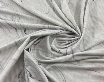 Super soft Z5390# 4 Stretch way Ribbed fabric print 92Polyester  8Spandex not see throught support to custom print price sold by yard