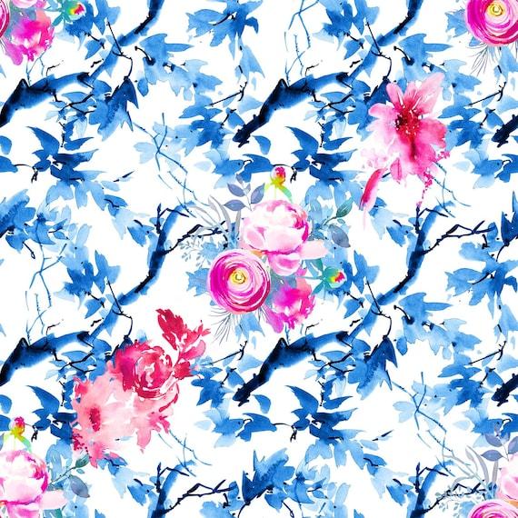 sprzedawane na całym świecie różne style kod promocyjny 6140# 4 stretch way flowers lycra print- Polyester Spandex lycra Matt -  Support your pattern Custom print - Lycra Price Sold By Yard