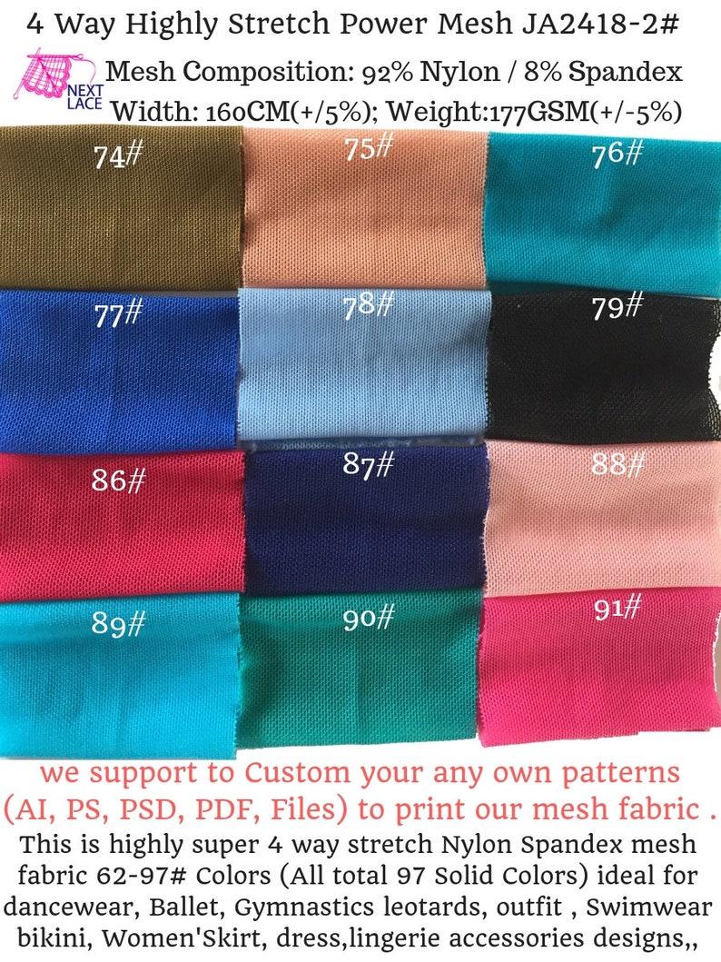 dress skirt Gymnastics Price sold by Yard leotards ideal for ballet JA2418-2# 4 Way Stretch Way Nylon Spandex 40D Power Mesh Fabric