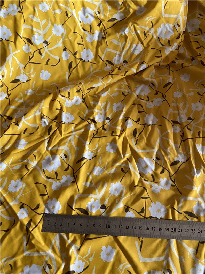 Soft hand 4 stretch way tropical flower Nylon Spandex matt  lycra print Customize Your Printing NO Minimal Order Quantites