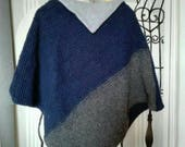 Boho Poncho mantle hot wool, soft and elegant, but also casual and sporty. One size, available in more colors