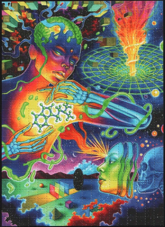 Ascension by Callie Fink Blotter art LSD looking artwork | Etsy