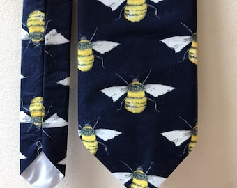 Birthday gift Bumblebee Necktie Christmas present.#Bees #Bumblebee #Honey bee #Bee hive #Drone #Queen Bee #Killer bee