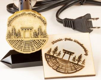 110V Custom Electric Branding Iron for Wood Burning Stamp Custom Wood Brand Custom Wood Branding Iron Personalized Custom Wood Stamp US Plug