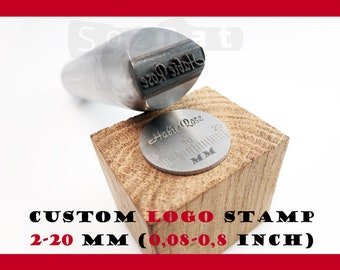 Punch Custom Stamp for Jewelry Stamping Iron Stamp for Metal Embossing Hand Leather Stamp Metal Stamping Personalized Jewelry Metal Branding