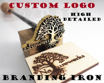 5054c8c4c66 Custom Branding Iron for Wood Branding Custom Leather Stamp Custom logo Branding  Iron Steak Heat Stamp BBQ Wood Burning Stamp Hot Stamping