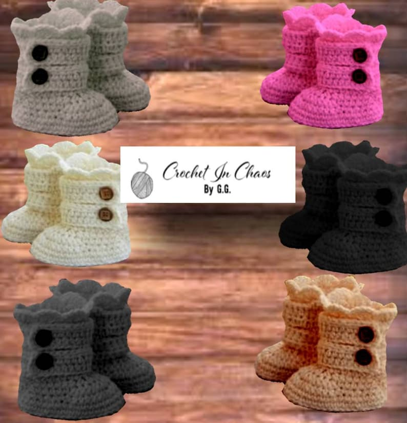 45018d9447c Crocheted Baby Boots, UGG Inspired Infant Booties w/ FREE SHIPPING