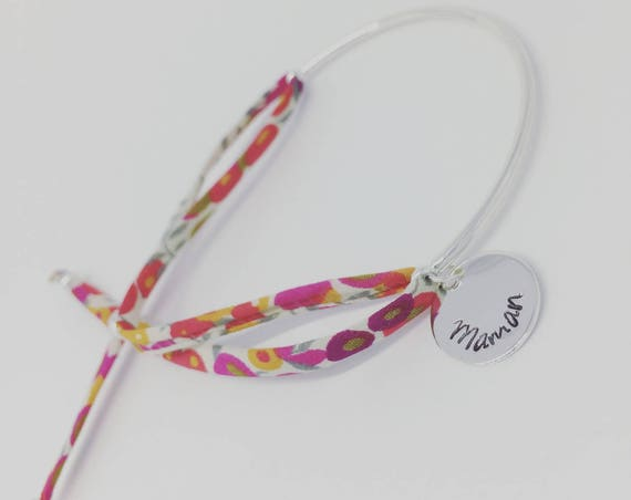 MOM gift idea - Half Liberty Wiltshire engraving personalized Bangle Bracelet