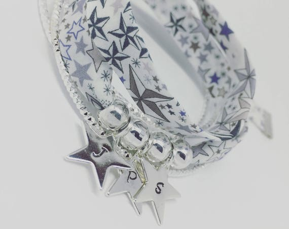 Personalized jewelry - my constellation - Bracelet GriGri XL Liberty of London Liberty - 3 prints custom