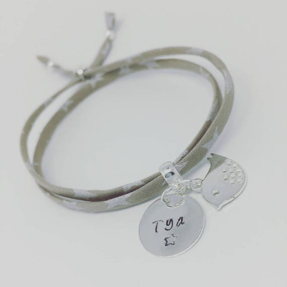BAPTISM COMMUNION * my 1st GriGri Liberty personalized with engraving to choose. Baby & child bracelet