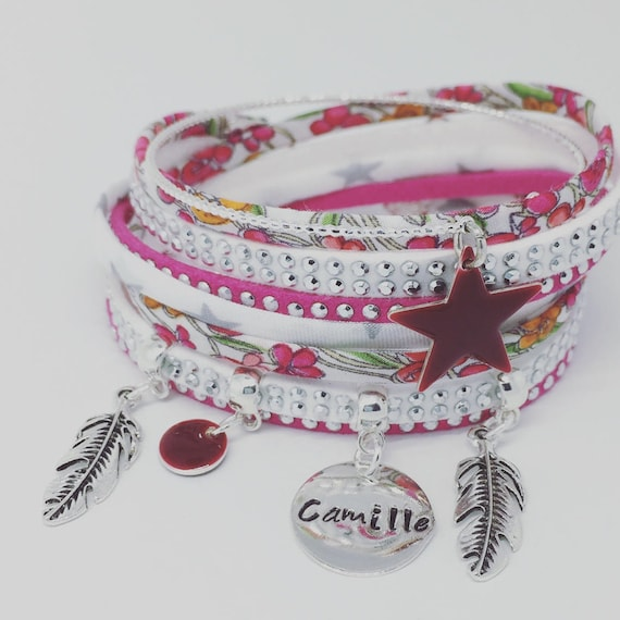 Liberty of London Bohemian * Liberty with personalized engraving by Palilo jewelry multi strand Bracelet