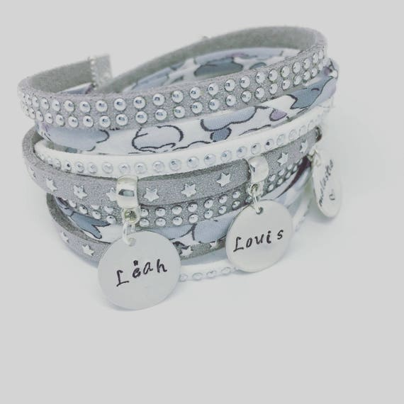 ★ Gift ★ Liberty multi strand with 3 prints custom by Palilo Jewelry Personalized Bracelet