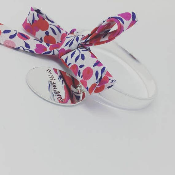 LIBERTY WILTSHIRE * Cuff Bracelet Bangle by Palilo with its Liberty bow and Medal with engraving