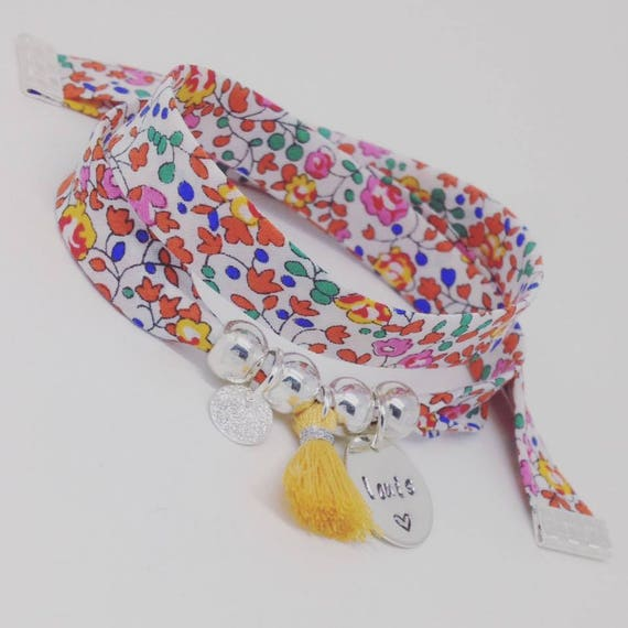GIFT idea * Liberty Bracelet with custom engraving and tassel by Palilo