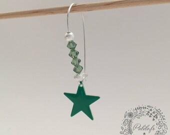 Mes Boucles d'Oreilles argentées Starlight avec Cristal swarovski by Palilo