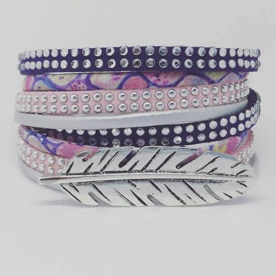 Liberty of London BOHO CHIC * Liberty of London with feather XXL by Palilo jewelry multi strand Bracelet