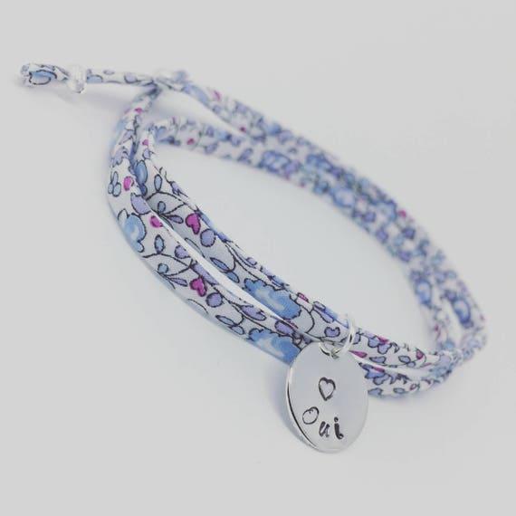 "WEDDING - My GriGri Liberty Liberty to choose ""Yes"". Palilo jewelry women bracelet"