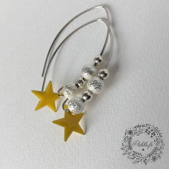 My So Chic star by Palilo Silver earrings