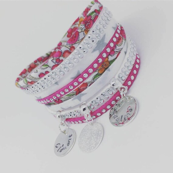 ★ ★ Liberty multi strand with 2 custom ENGRAVINGS ★ Palilo jewelry MOM Personalized Bracelet