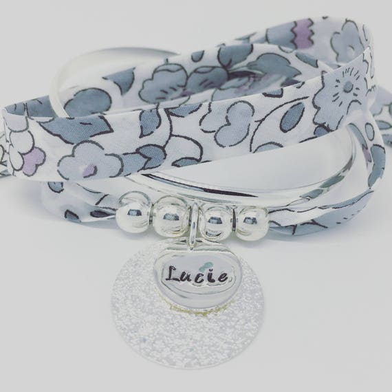 ★ Design custom jewelry ★ GriGri XL Liberty of London Betsy stone with personalized engraving by Palilo