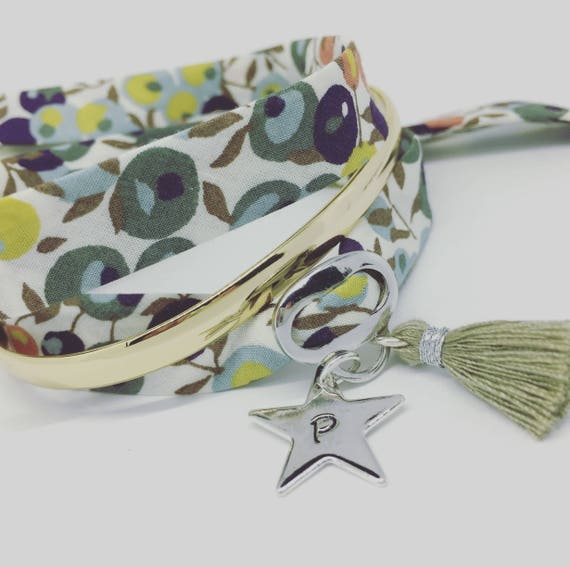"""My pretty Star"" GriGri XL Liberty with etching custom personalized bracelet"