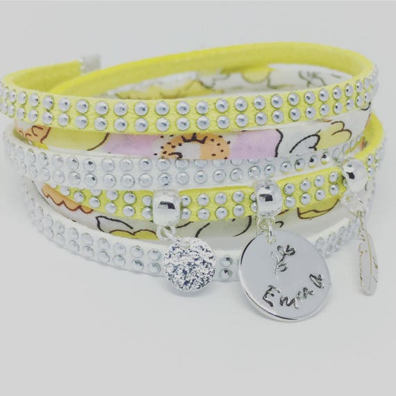 ★ Jewelry personalized bracelet ★ Liberty of London with personalized engraving ★ Palilo jewelry coral multi strand Bracelet